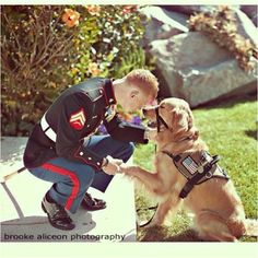 Military pet love.....this guy gets two votes!!