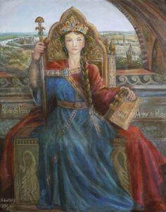 Anne of Kiev | Anne of Kiev, Queen of France - Painting, 80x100 cm ©2014 по ...