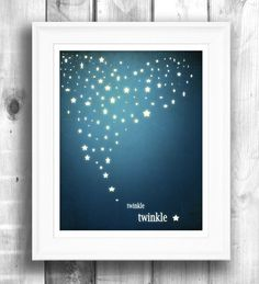 Starlight Nursery Art Giclee Print Typographic by HappyLetterShop, $22.00