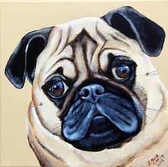 Okay....so its not your typical Farmyard animal!~ lol But this recent commission of a pug is bound to bring a smile to your face~!!