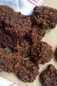 no bake choc pb quinoa cookies 1