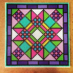 Perler bead quilt tile by Terri Mitchell
