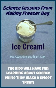 Science Lessons From Making Freezer Bag Ice Cream - Mosswood