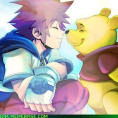 Sora and Pooh - Kingdom Hearts