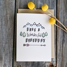 Wonderful Birthday Card Birthday Card for Him by ChampaignPaper