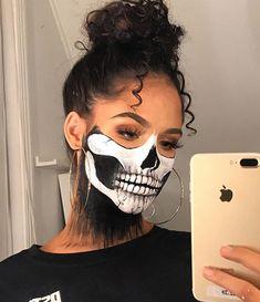 Creepy Halloween Makeup, Amazing Halloween Makeup, Clown Makeup, Skull Makeup, Costume Makeup, Lila Make-up, Helloween Make Up, Face Paint Makeup, Special Effects Makeup