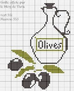 cross stitch olives #freecrossstitch