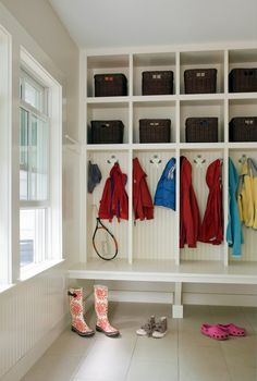 mudroom lockers with bench open shelves baskets shoe rack