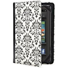 Fancy black and white Kindle Fire HD cover, 7 inch