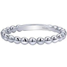 "Gabriel 14K White Gold ""Dewdrop"" Stackable Ring · LR4871W4JJJ · Ben Garelick Jewelers"