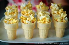 Olympic Torch Popcorn Idea - not really a recipe. Just a fun way to get excited about the games! Pair it with Champagne for a delicious treat!