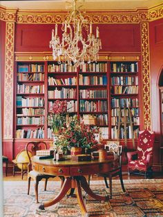 Holiday Table Decor In This Red Gold Library Home Libraries Public