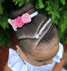 Save by Hermie Mixed Girl Hairstyles, Pony Hairstyles, Girls Natural Hairstyles, Baddie Hairstyles, Flower Girl Hairstyles, Little Girl Hairstyles, Medium Hair Styles, Natural Hair Styles, Braid Styles For Girls