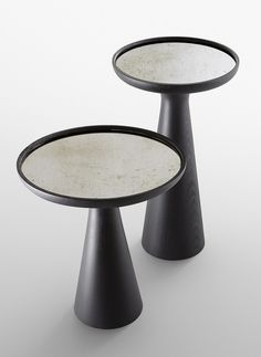 Lacquered round solid wood high side table FANTE - Gallotti&Radice