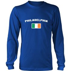 "Saint Patrick's Day - ""Philadelphia Parade Irish Flag"" - custom made cool apparel."