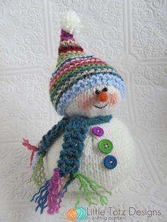 Snowman - Knitting Pattern