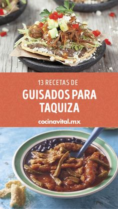 You have a party and you have to bring a dish for the taco, choose one of these ideal stew recipes for taquiza, they are cheap and delicious. Los antojos s Mexican Fast Food, Mexican Food Recipes, Ethnic Recipes, Creamy Chicken Tortilla Soup, Healthy Oatmeal Cookies, Souffle Recipes, Cooked Apples, Burger Recipes, Tostadas