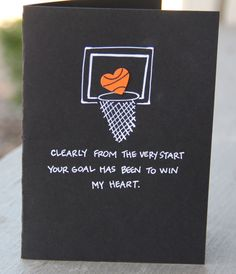 Basketball MVP Valentine's Day Card by thepaperhugfactory on Etsy, $4.00