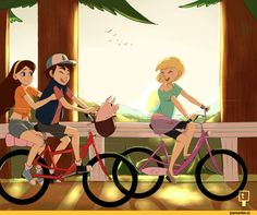 Waddles,Mabel Pines,Dipper Pines,Pacifica Northwest