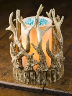 The Antler Shade is one of my husband's favorites! He loves it in his man cave with Oak & Bourbon or Cafe Latte Sprinkles! http://pinkzebrahome.com/espicer