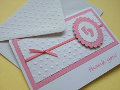 Tiny Feet Baby thank you cards. Can be personalised   other colours are available.. £7.50, via Etsy.