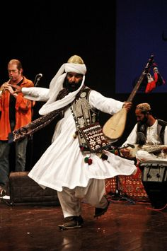 The Baloch way of dressing is very intricate.  This is Akhtar Zahri, a folk musician from the Balochistan region of Pakistan.