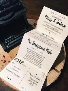 1 Rustic/Vintage/Shabby Chic 'Maisy' Wedding Invitation/card set Sample - Concertina fold by TheVowSheffield on Etsy https://www.etsy.com/uk/listing/287726039/1-rusticvintageshabby-chic-maisy-wedding