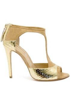 Aquazzura cruise 2013 collection 'ti-amo' gold high heel sandals