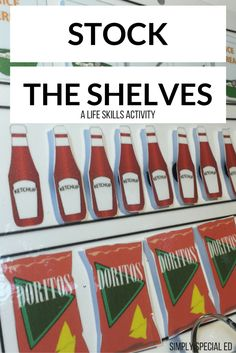 Stock the shelves life skills activity for Autism