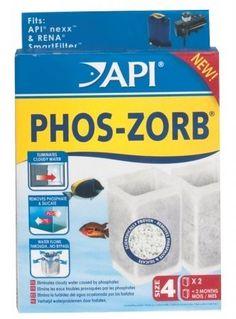 API Phos-Zorb for Nexx Filter - Size 4 - 2 pk - ON SALE! http://www.saltwaterfish.com/product-api-phos-zorb-for-nexx-filter-size-4-2-pk