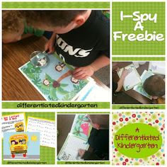 I-Spy Differentiated Instruction - letter I spy freebie