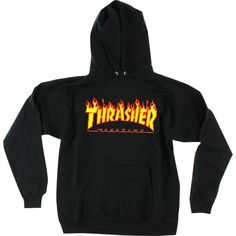 Thrasher SWEATSHIRTS ❤ liked on Polyvore featuring tops, hoodies, sweatshirts, zip up hoodie sweatshirts, hooded zip up sweatshirt, zip up top, hoodie sweatshirts and logo hoodies