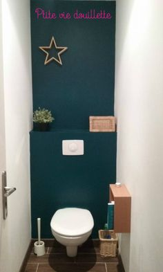 relooking des toilettes !! diy toilet sobre, élégante, raffinée, simple et moderne