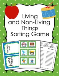This living and non-living things sorting game would be great for a science center activity.The game includes:12 living things cards12 non-living things cardsliving and non-living things sorting matsrecording sheetanswer keyPrint the cards and sorting mats onto cardstock and laminate for durability.