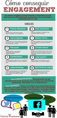 #Infografia #CommunityManager Cómo conseguir engagement en redes sociales.  #TAVnews
