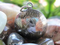 Domed Antiqued Vermont State Quarter Pendant by AutopilotEmpires