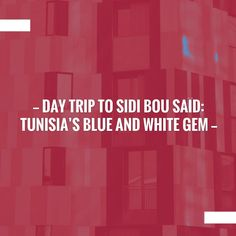Kickstart your day with a good read!⚡️Day Trip to Sidi Bou Saïd: Tunisia's Blue and White Gem https://www.thetravelblogs.com/day-trip-sidi-bou-said-tunisia/?utm_campaign=crowdfire&utm_content=crowdfire&utm_medium=social&utm_source=pinterest