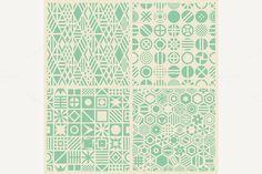 Geometric patterns set by bolotoff on @creativemarket