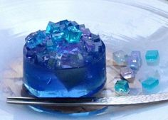 Japanese Sweets, So Blue, So Creative & So Beautiful. Japanese Treats, Japanese Food Art, Japanese Candy, Japanese Desserts, Cute Desserts, Beautiful Desserts, Asian Desserts, Mousse, Gelatina Jello