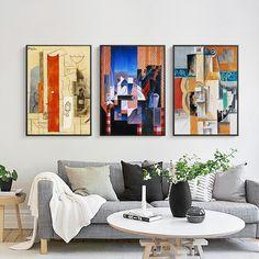 Cor picasso pintura a óleo abstrata moderna simple a4 cópia da arte do cartaz da lona decorativa pintura mural sala de estar decoração de casa em Pintura & Caligrafia de Home & Garden no AliExpress.com | Alibaba Group
