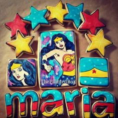 Wonderwoman cookies  By The Painted Box