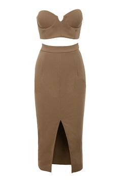 new sexy women bodycon dress khaki brown 2 two piece set party dress off the shoulder mid-calf Khloe Kardashian Dress