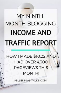 Ninth Month Blogging Income Report | Millennial Talks