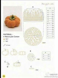 Love crochet Love craft added a new photo. Crochet Cake, Crochet Fish, Crochet Fruit, Crochet Pumpkin, Love Crochet, Crochet Flowers, Kawaii Crochet, Crochet Gratis, Crochet Dolls