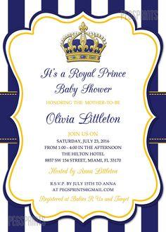 Superb Royal Prince Baby Shower Invitation   Prince Baby Shower Invitations Boy   Royal  Baby Shower