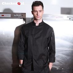 Cheap cooking clothes, Buy Quality uniform cook directly from China chef jacket Suppliers: New Arrival Autumn & Winter Hotel Restaurant Kitchen Man Chef Jacket Long-sleeve Work Wear Uniform Cook Corporate Uniforms, Staff Uniforms, Uniform Design, Denim Coat, Denim Fabric, Denim Fashion, Work Wear, Chef Jackets, Long Sleeve