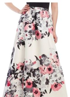 Parker Maxi Skirt. Free shipping and guaranteed authenticity on Parker Maxi Skirt at Tradesy. Parker Lenore Ball gown skirt with pink floral and...