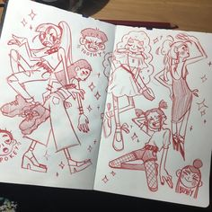 Some sketchbook stuff I did today,,, not really feelin it boys