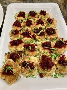 Mini Sweet Corn Cakes w/ Cranberry Chutney: So Divine Catering