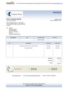 Word Invoice Template Free Invoice Template Online Pinterest - Free invoices templates online